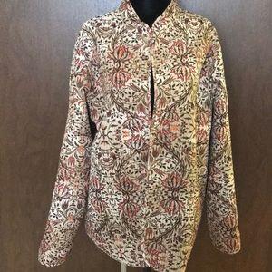 Boho print reversible jacket blazer quilted